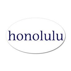 Honolulu 22x14 Oval Wall Peel