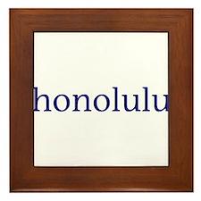 Honolulu Framed Tile