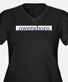 Owensboro Women's Plus Size V-Neck Dark T-Shirt