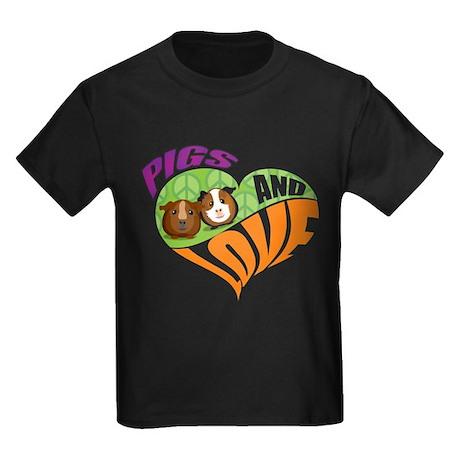 Pigs and Love Kids Dark T-Shirt