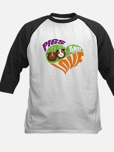 Pigs and Love Kids Baseball Jersey