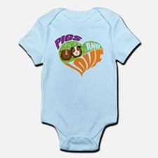 Pigs and Love Infant Bodysuit