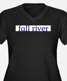 Fall River Women's Plus Size V-Neck Dark T-Shirt