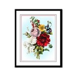 Watercolor Look Flower Bouquet Framed Panel Print