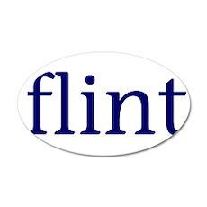 Flint 22x14 Oval Wall Peel