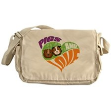 Pigs and Love Messenger Bag