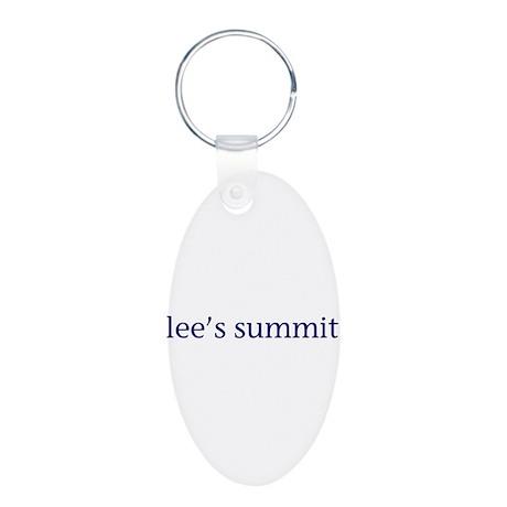 Lee's Summit Aluminum Oval Keychain