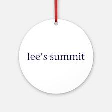 Lee's Summit Ornament (Round)