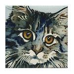 Elfin Maine Coon Cat Tile Coaster