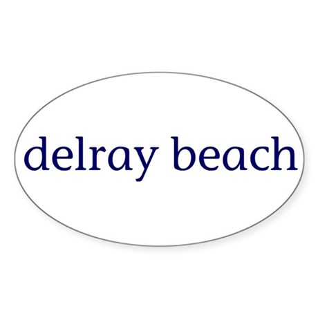 Delray Beach Sticker (Oval)