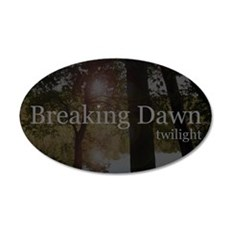Twilight Breaking Dawn Pond 38.5 x 24.5 Oval Wall