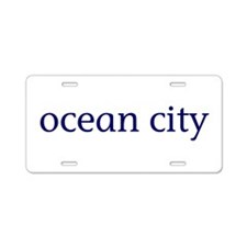 Ocean City Aluminum License Plate