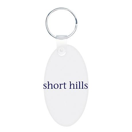 Short Hills Aluminum Oval Keychain