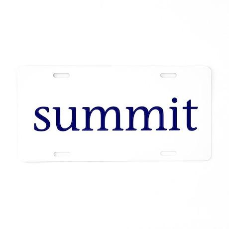 Summit Aluminum License Plate