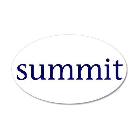 Summit 38.5 x 24.5 Oval Wall Peel