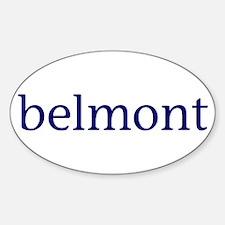 Belmont Sticker (Oval)