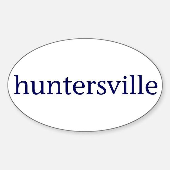Huntersville Sticker (Oval)