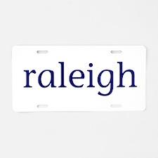 Raleigh Aluminum License Plate