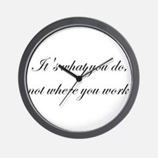 It's What You Do, Not Where Y Wall Clock
