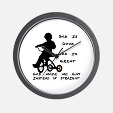 God Made Me Gay (Tricycle)  Wall Clock
