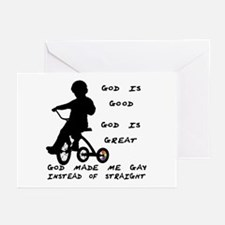 God Made Me Gay (Tricycle)  Greeting Cards (Packag