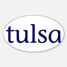 Tulsa Sticker (Oval)