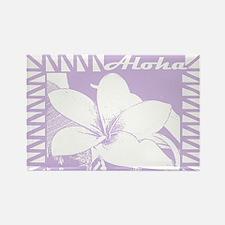 ALOHA Flower Rectangle Magnet