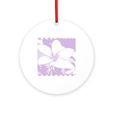 ALOHA Flower Ornament (Round)