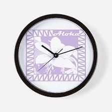 ALOHA Flower Wall Clock