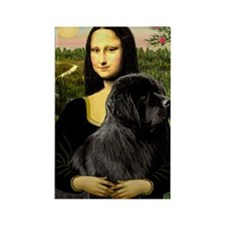 Mona & her Newfie Rectangle Magnet
