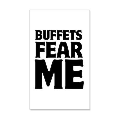 Buffets Fear Me Eat Fat 38.5 x 24.5 Wall Peel