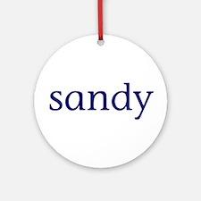 Sandy Ornament (Round)
