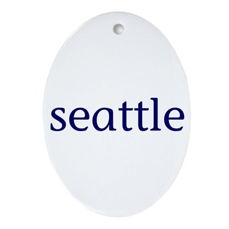 Seattle Ornament (Oval)