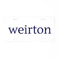Weirton Aluminum License Plate