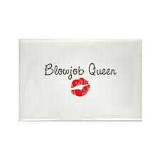 Blowjob Queen Rectangle Magnet (10 pack)