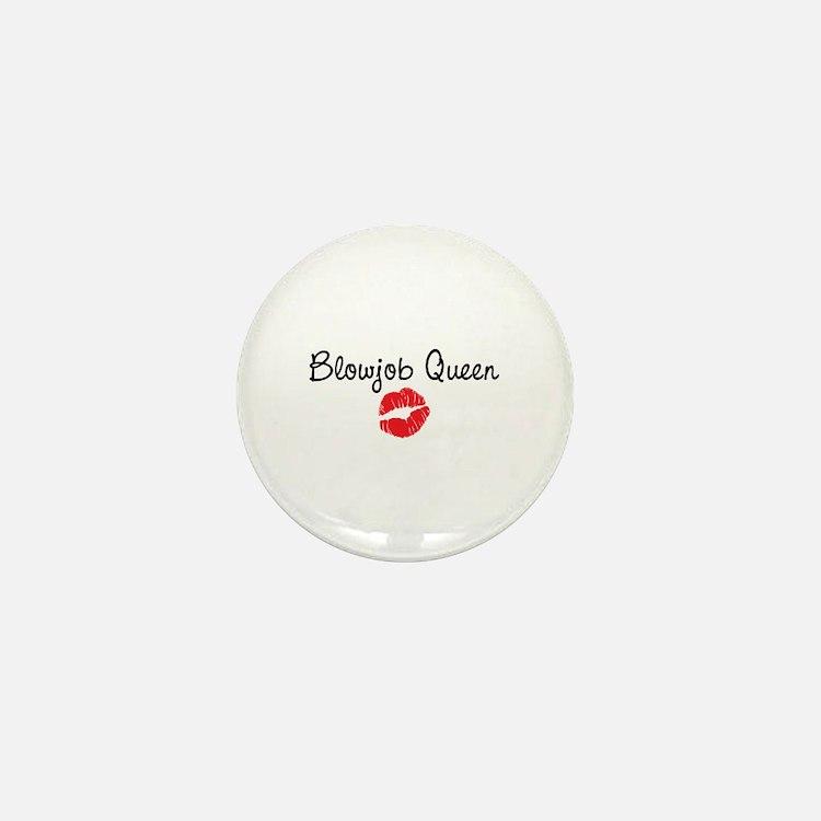 Blowjob Queen Mini Button