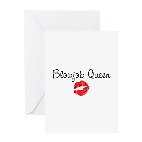 Blowjob Queen Greeting Card