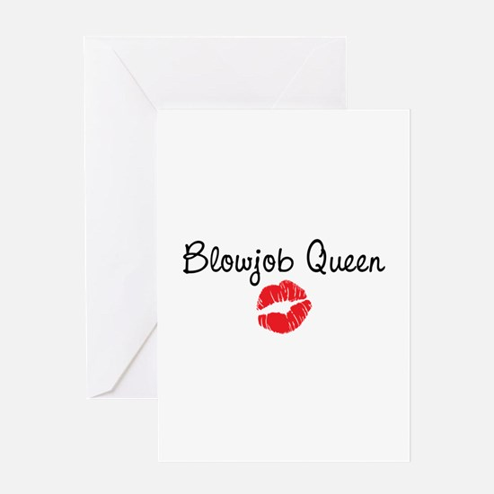 Blowjob Queen Greeting Card