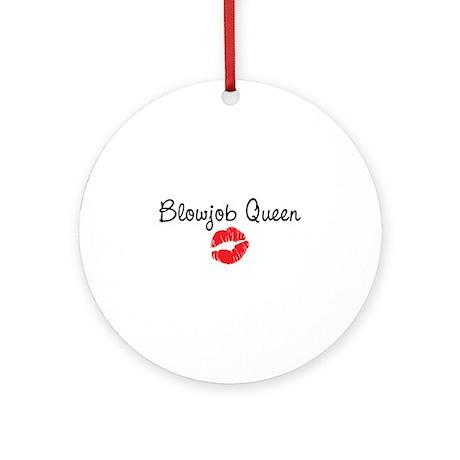 Blowjob Queen Ornament (Round)