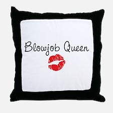 Blowjob Queen Throw Pillow