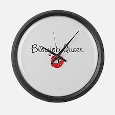 Blowjob Queen Large Wall Clock