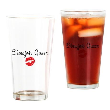 Blowjob Queen Drinking Glass