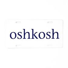 Oshkosh Aluminum License Plate
