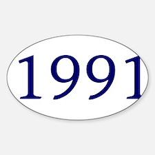 1991 Sticker (Oval)