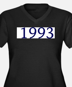 1993 Women's Plus Size V-Neck Dark T-Shirt