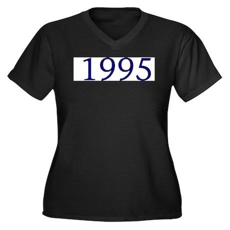 1995 Women's Plus Size V-Neck Dark T-Shirt