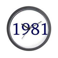 1981 Wall Clock