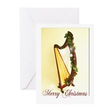 Celtic Harp Xmas Cards (Pk of 10)