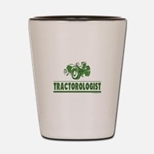 Green Tractor Shot Glass