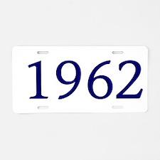 1962 Aluminum License Plate